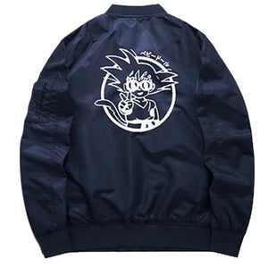 41d76bfe30 Dragon Ball Z - Peace Goku Bomber Jacket