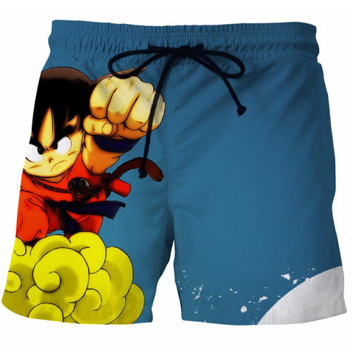 7200766378 Dragon Ball Z - Ocean Blue Goku Swim Trunk
