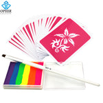 Body Paint 6 Colors Rainbow Pigment Temporary Tattoo Kit