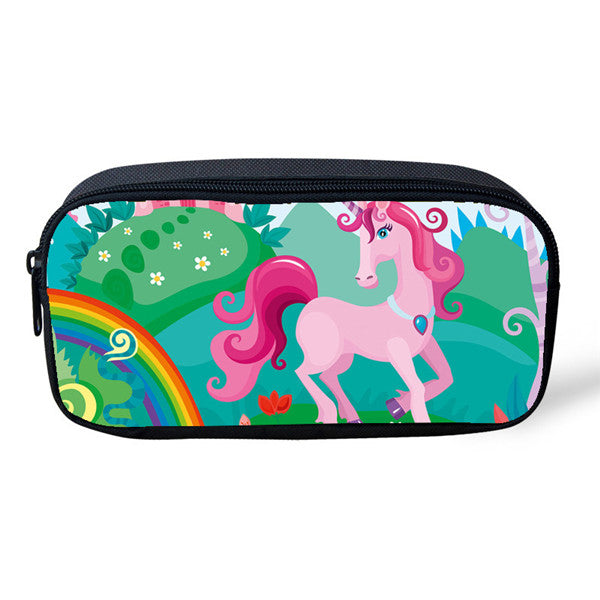 Unicorn Pencil and Cosmetic Cases