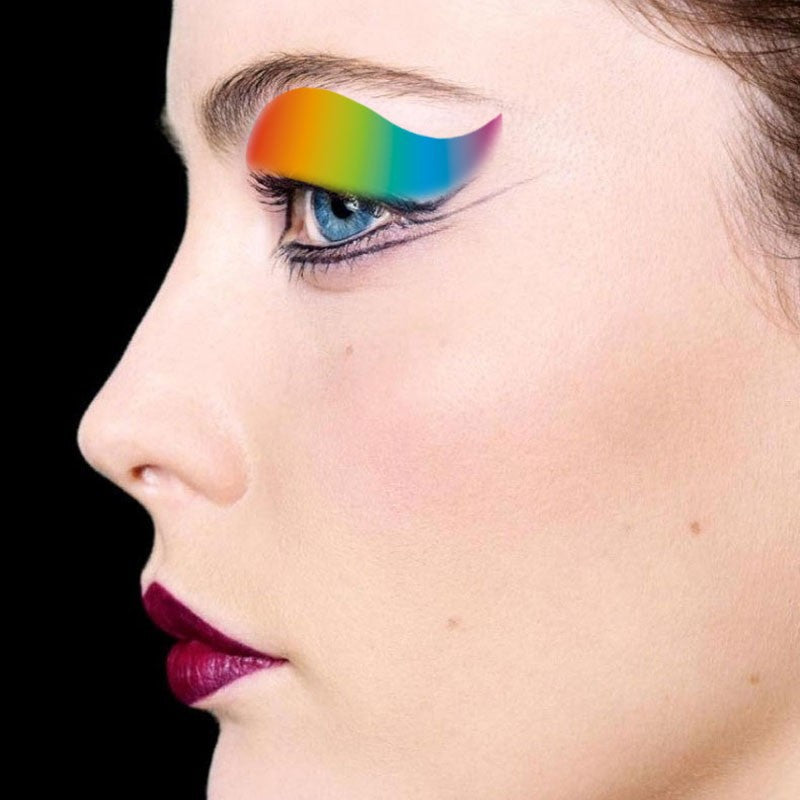 Gradient Rainbow Temporary Eyeshadow Tattoo