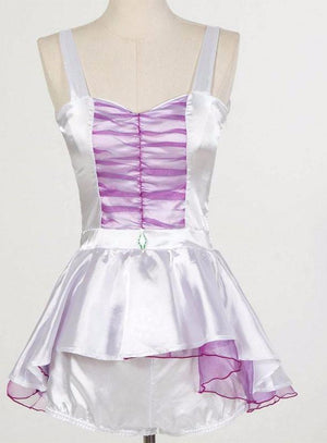 5-piece White & Purple Sexy Unicorn Costume