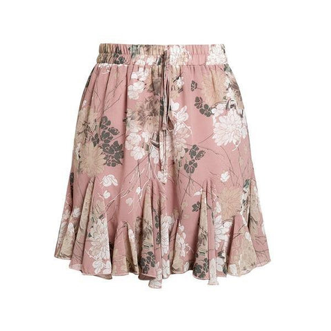 Rose Boho Ruffle Mini Skirt - Studio Runway