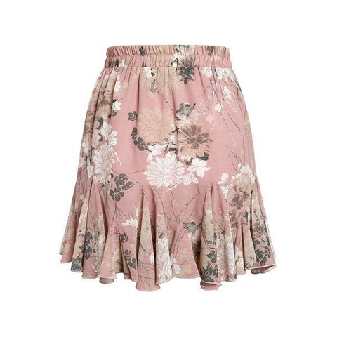 Image of Rose Boho Ruffle Mini Skirt - Studio Runway