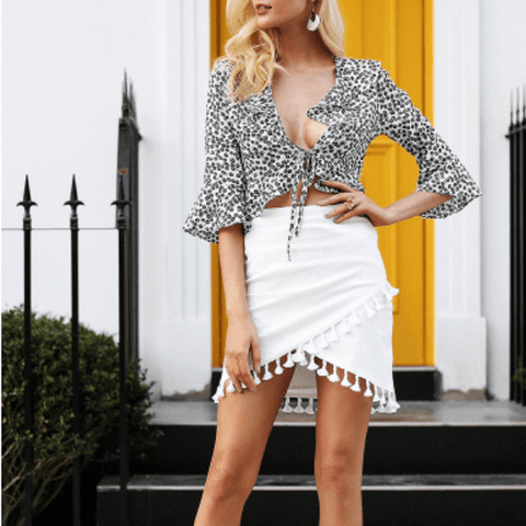 Mischa Tassel Mini Skirt - Studio Runway