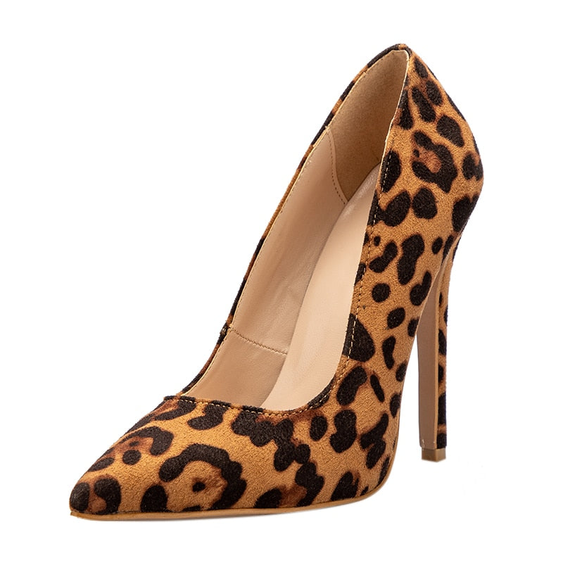 Alexis High Heeled Leopard Pumps