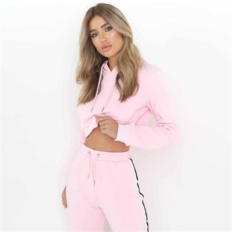 Blaine Crop Top Tracksuit - Studio Runway
