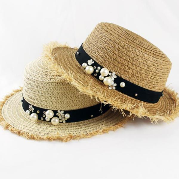 Skyla Straw Boater Hat - Studio Runway