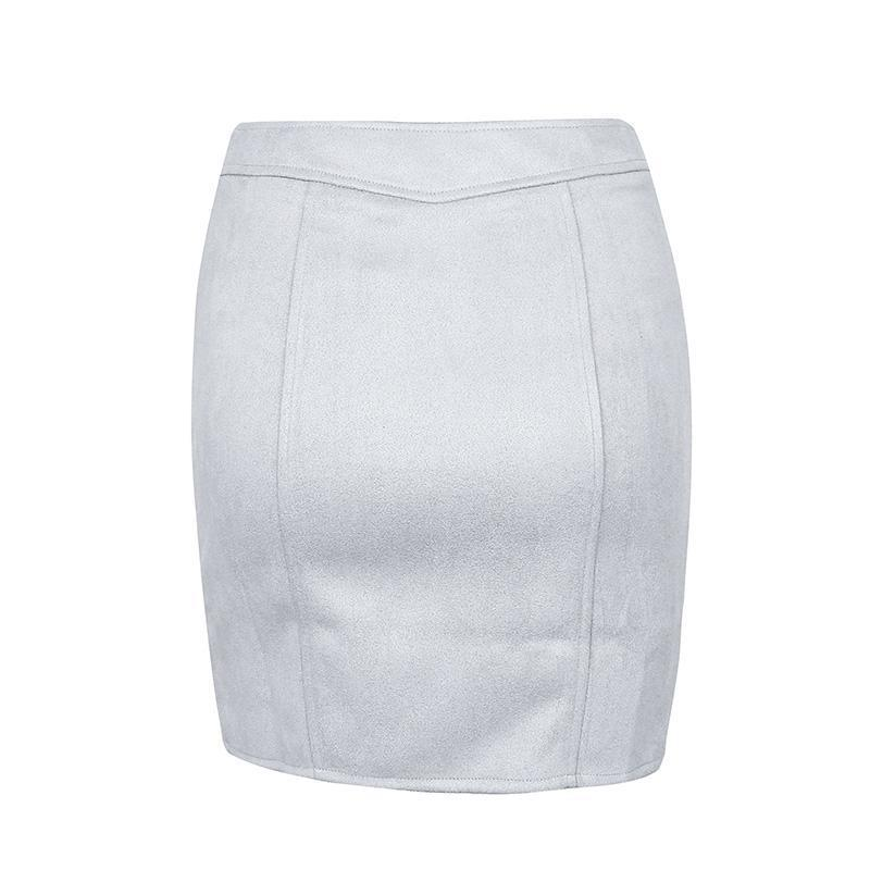 Gigi Suede Pencil Skirt - Studio Runway