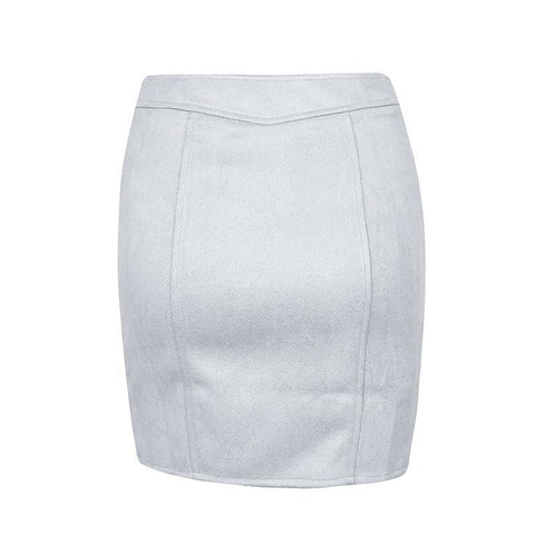 Image of Gigi Suede Pencil Skirt - Studio Runway