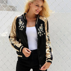 Harley Embroidery Bomber Jacket