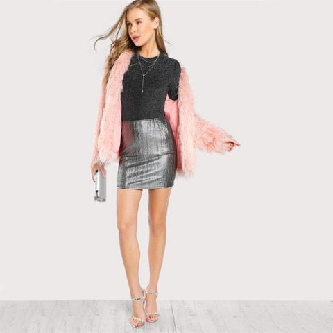 Image of Haley Metallic Mini Skirt - Studio Runway
