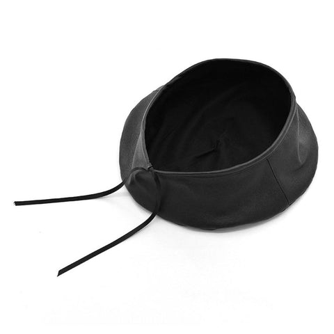Zelda Faux Leather Beret - Studio Runway