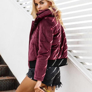 Keeley Velvet Padded Jacket