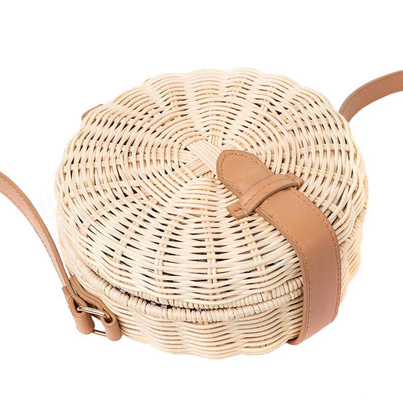 Madison Round Straw Bag - Studio Runway