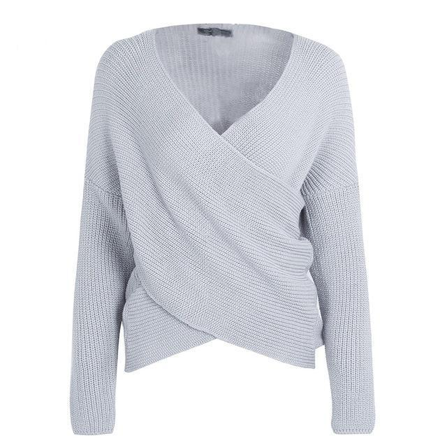 Rory Cross Front Sweater - Studio Runway