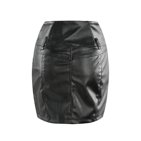 Image of Peyton Zip PU Mini Skirt - Studio Runway