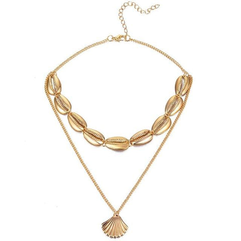 Kendall Multilayer Shell Necklace - Studio Runway