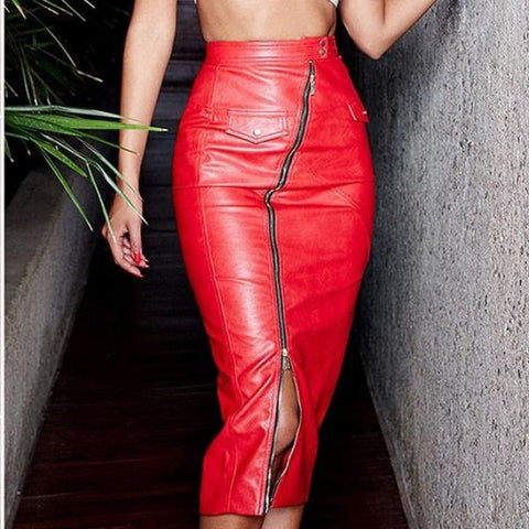 Image of Layla PU Leather Pencil Skirt - Studio Runway