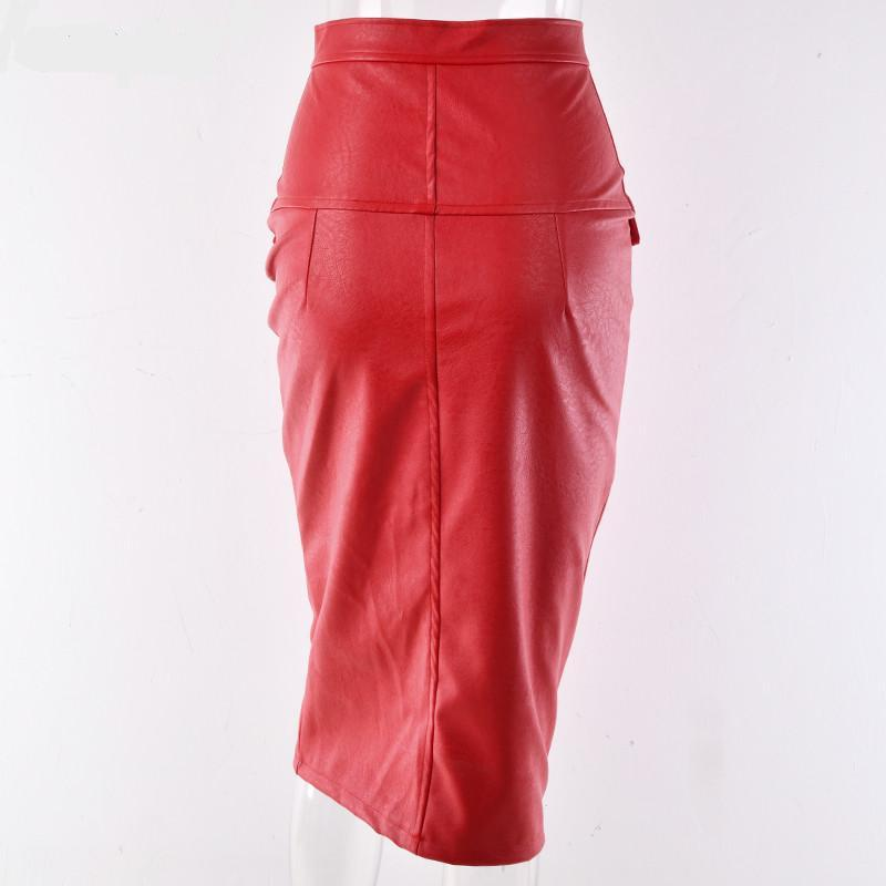 Layla PU Leather Pencil Skirt - Studio Runway