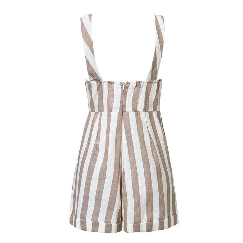 Pixie Striped Romper - Studio Runway