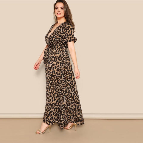 Roxy Leopard Print Maxi Dress - Studio Runway