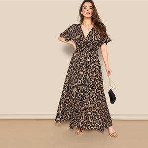 Roxy Leopard Print Maxi Dress