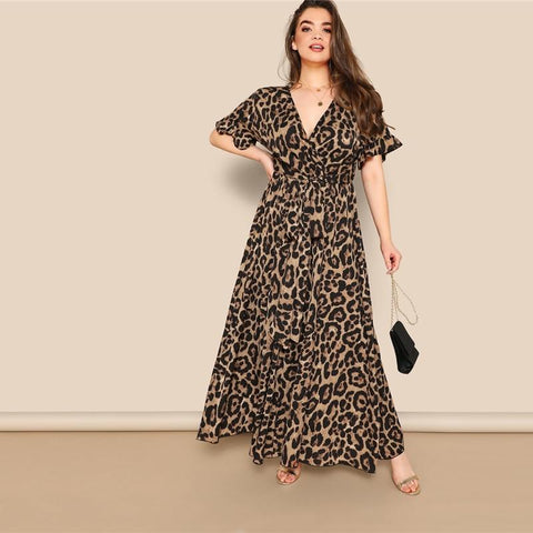 Image of Roxy Leopard Print Maxi Dress - Studio Runway