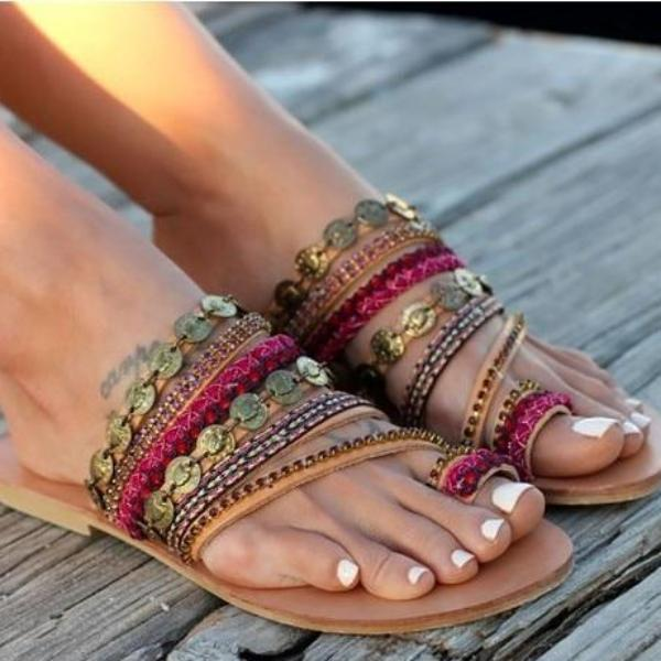 Abigail Ethnic Sandals - Studio Runway