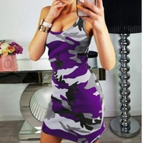 Image of Lauren Camo Tank Dress - Studio Runway