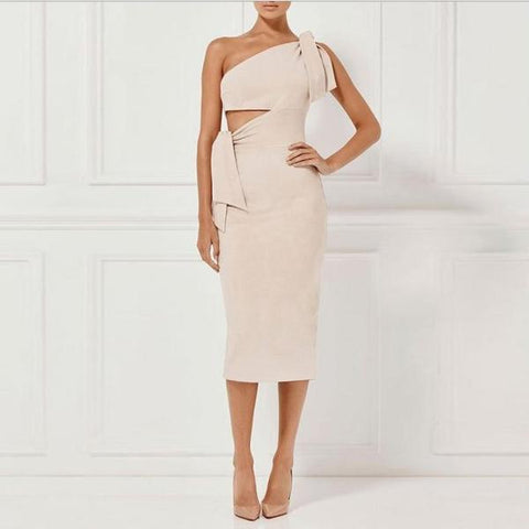 Image of Melany One Shoulder Party Dress - Studio Runway
