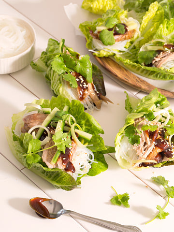 Roast Duck Lettuce Cups