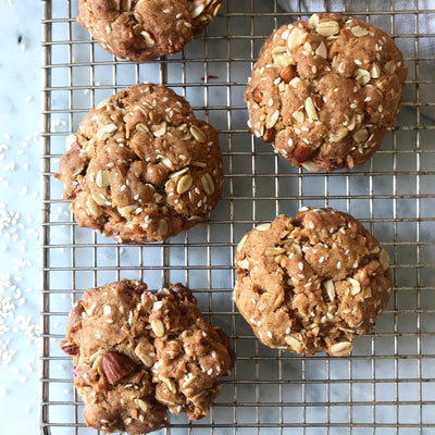 Sesame & Almond ANZAC Biscuits