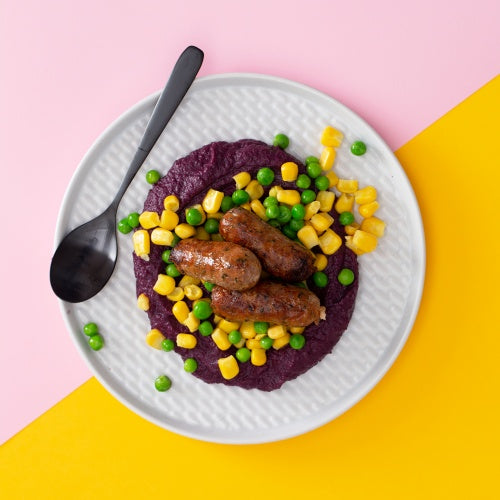 JUNIOR JUK Rainbow Bangers & Mash
