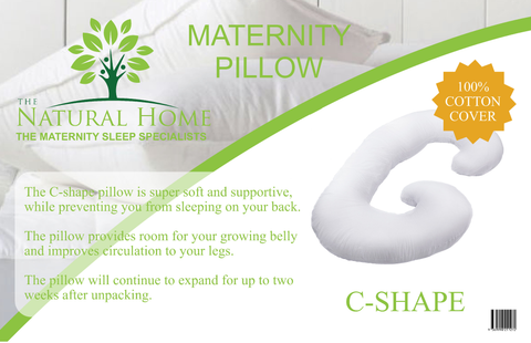 Full Body Pregnancy Maternity Pillow  - Belly & Back Support Cushion with 100% Cotton Pillow Cover - C Shaped