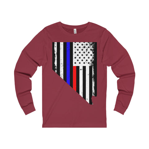Las Vegas, Nevada First Responder Men's Long Sleeve Tee-Charity - 50 Stars Apparel Co.