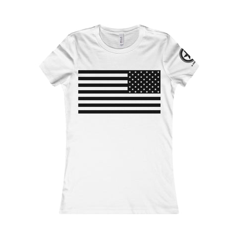 Service Style American Flag Women's Tee - 50 Stars Apparel Co.