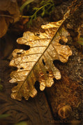 Timeless Oak Leaf Pendant - In Brass