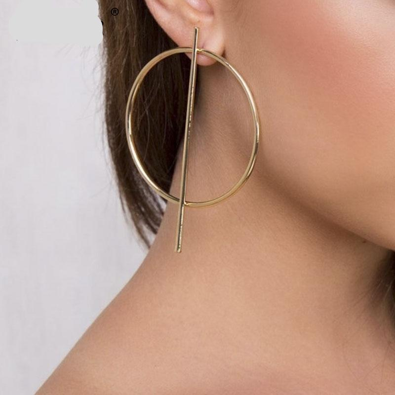 Statement Chic Round Drop Earrings