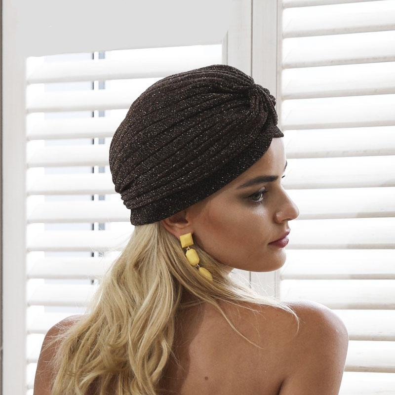 Bling Warm Knitted Turban