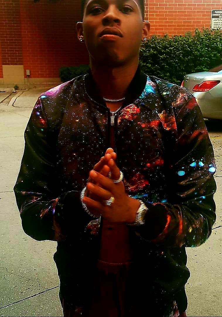 'Galaxi One' Bomber Jacket By Mark Loring