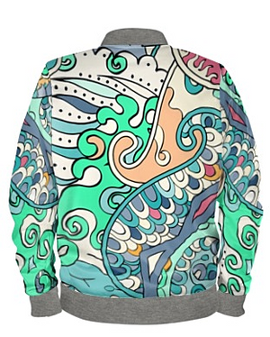 The Aquamarine Bomber Jacket By Mark Loring