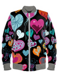 Decorated Hearts Bomber Jacket By Mark Loring