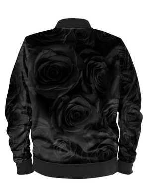 Black Roses Bomber Jacket By Mark Loring