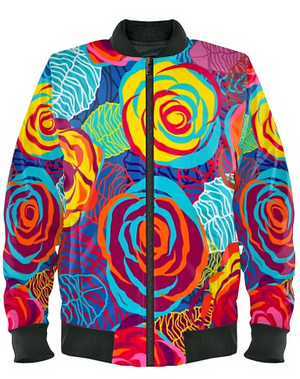 Carnival Roses Bomber Jacket By Mark Loring