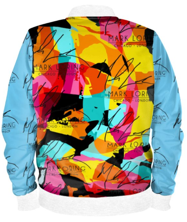 Colorful Abstract Bomber Jacket By Mark Loring