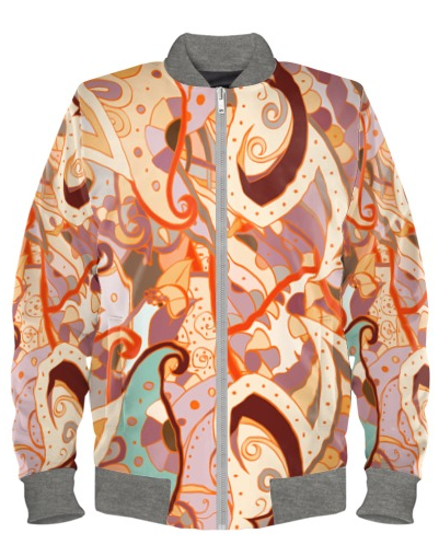 Ecru Mehndi Bomber Jacket By Mark Loring