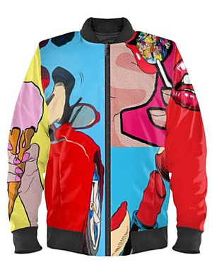 'Femininity' Pop Art Bomber Jacket By Mark Loring