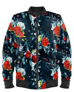 Floral Rose Bomber Jacket By Mark Loring