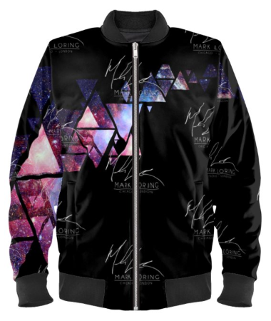 'Triangles' Galaxi Bomber Jacket By Mark Loring
